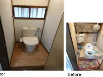 戸田市新曽 段差のない洋式トイレに