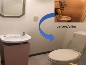 草加市 店舗のトイレ&洗面所改装工事