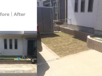 川口市桜町 駐車スペースを拡げたいリフォーム 外構