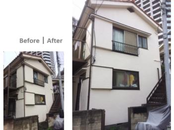 川口市金山町 賃貸アパート 外壁リフォーム事例