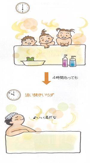お湯が冷めにくい高断熱浴槽